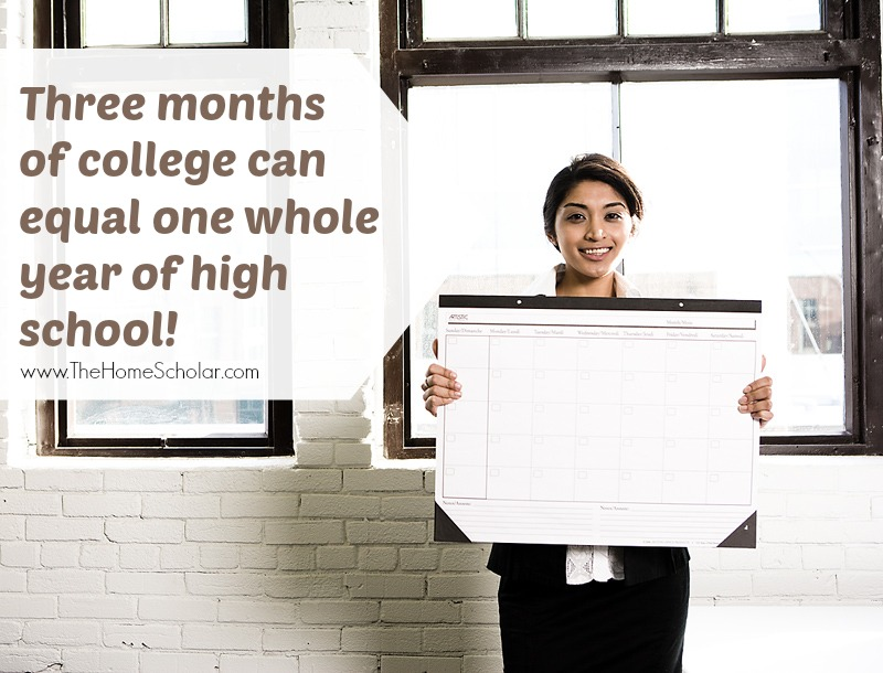 Three Months of College Can Equal One Year of High School!