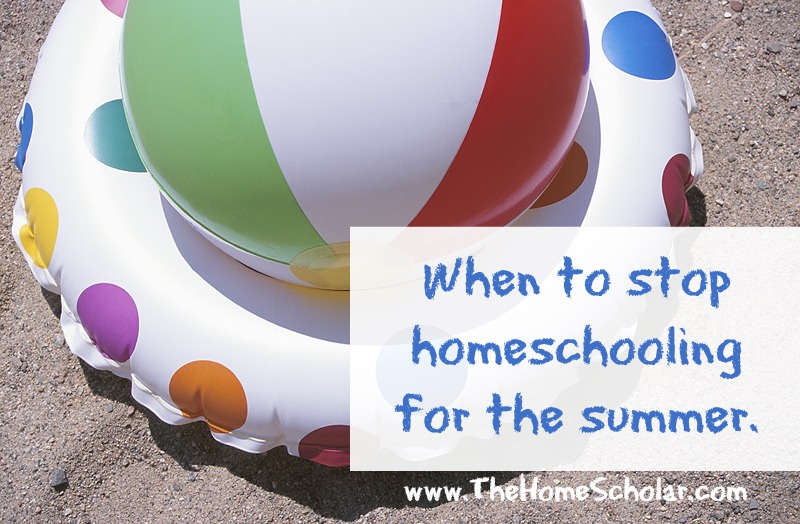 Homeschooling High School: When Should I Stop for Summer?