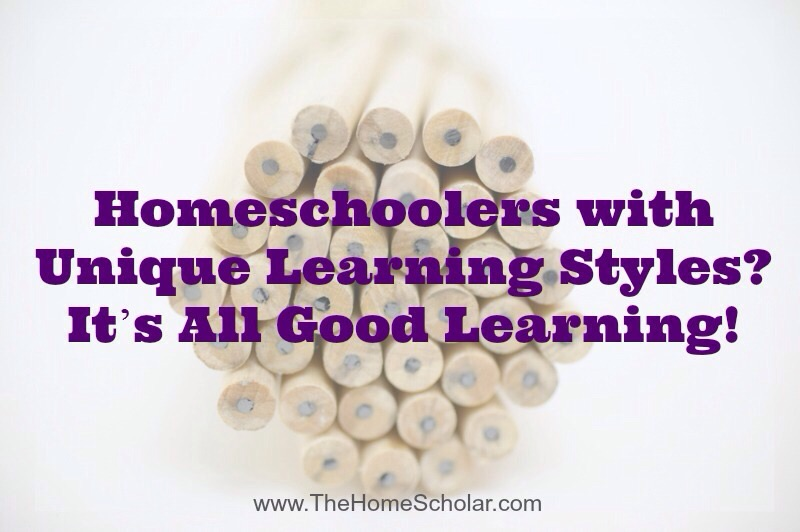 Homeschoolers with Unique Learning Styles? It's All Good Learning!