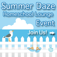 "Join me at The Homeschool Lounge ""Summer Daze"" event!"