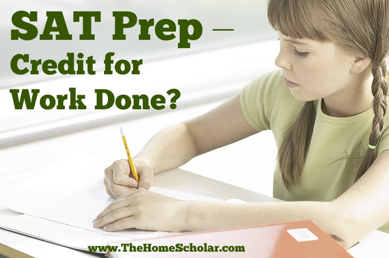 SAT Prep - Credit for Work Done?