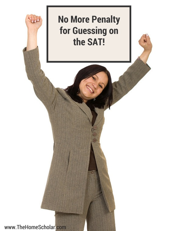 No More Penalty for Guessing on the SAT