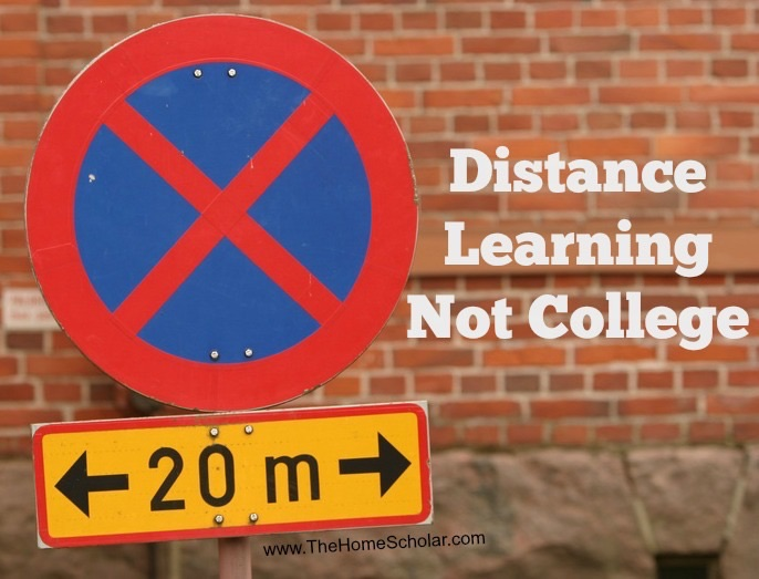 Distance Learning Not College