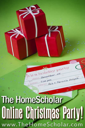 The HomeScholar Online Christmas Party will be LOTS fun! #Homeschool @TheHomeScholar