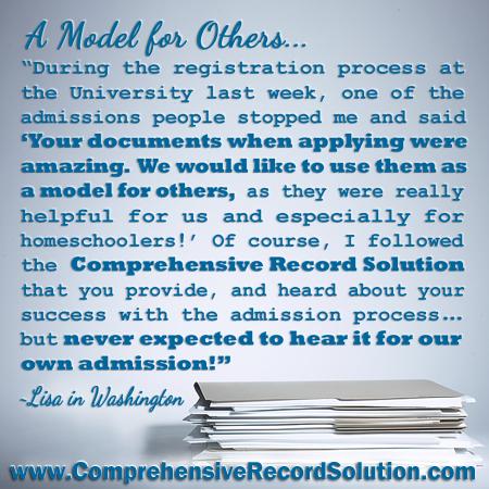 Homeschool Records Worth Imitating