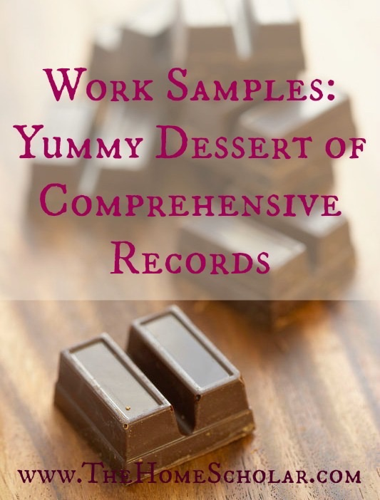 Work Samples: Yummy Dessert of Comprehensive Records