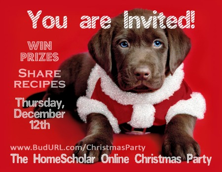 The HomeScholar Online Christmas Party
