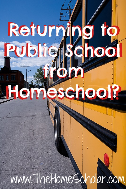 Are you thinking about sending your homeschooler to public school? There are some issues you need to consider before returning to public school #homeschool #HomeScholar
