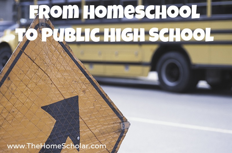 From Homeschool to Public High School