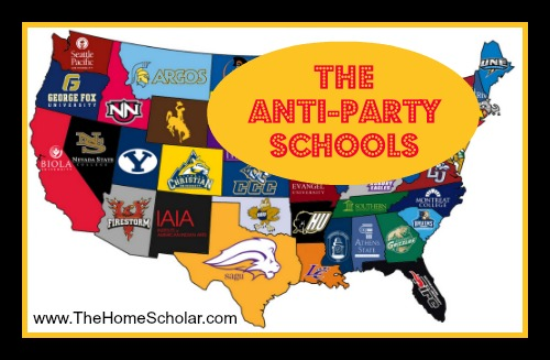 """Tamest Party Schools in Each State"" by College Prowler"