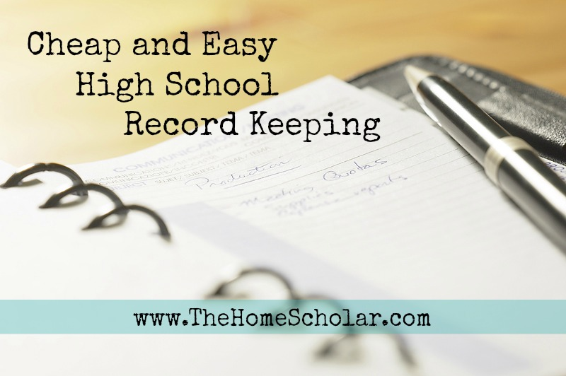 Cheap and Easy High School Record Keeping