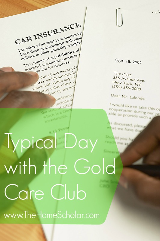 Typical Day with the Gold Care Club