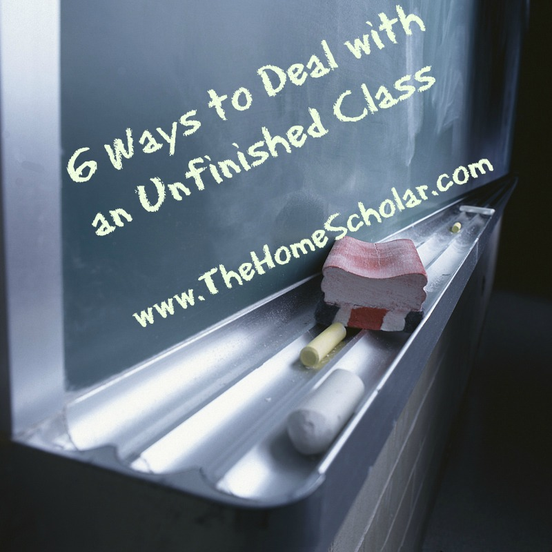 6 Ways to Deal with an Unfinished Class