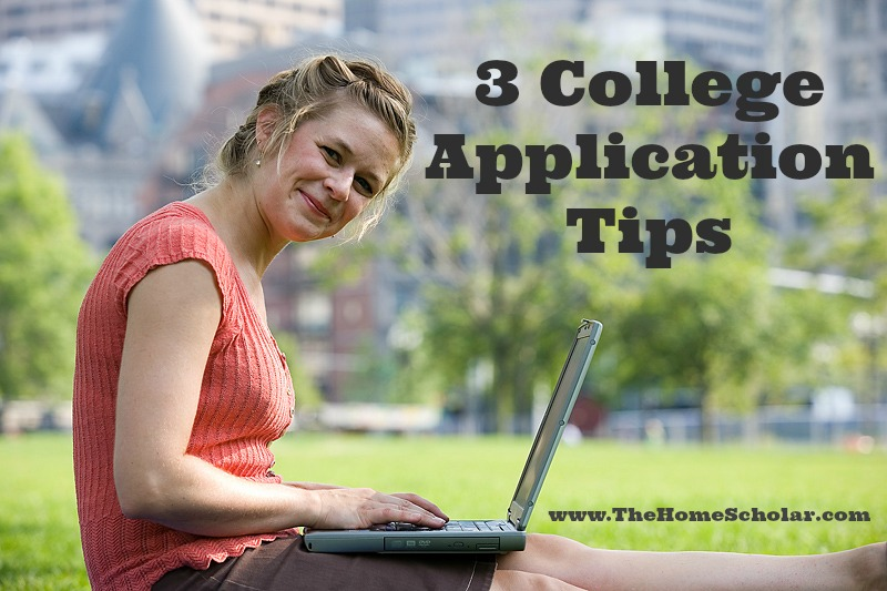3 College Application Tips