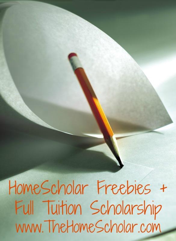 HomeScholar Freebies + Full Tuition Scholarship