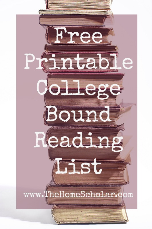 free printable college bound reading list