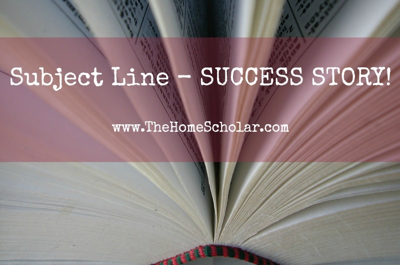 Subject Line - SUCCESS STORY!