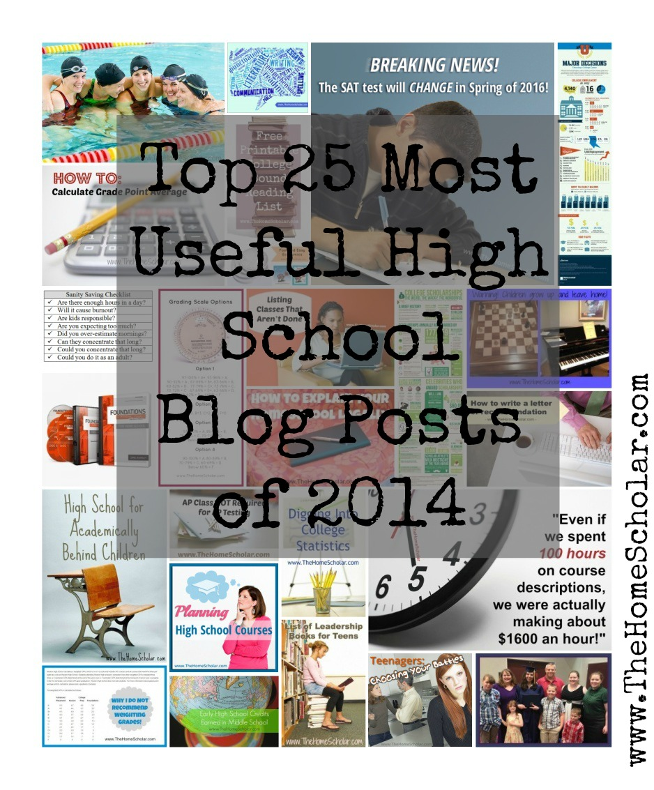 Top 25 Most Useful High School Blog Posts of 2014