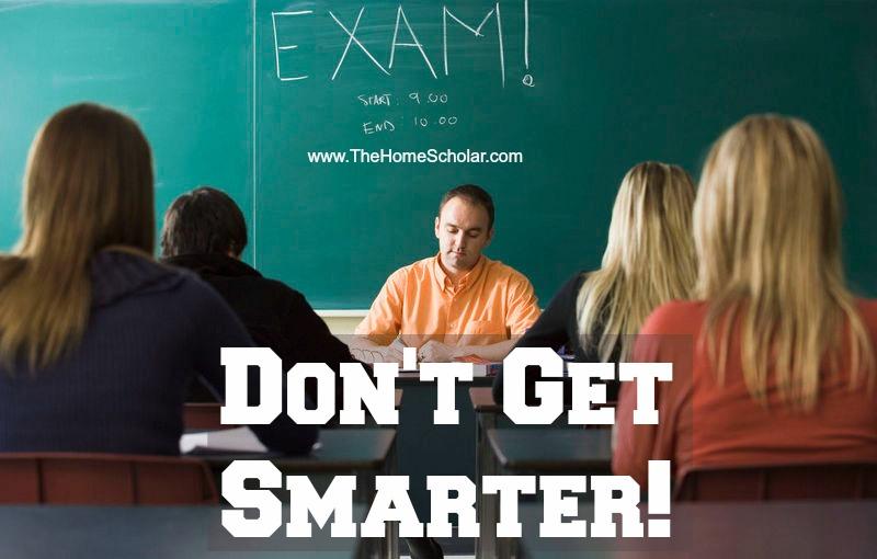 Don't Get Smarter