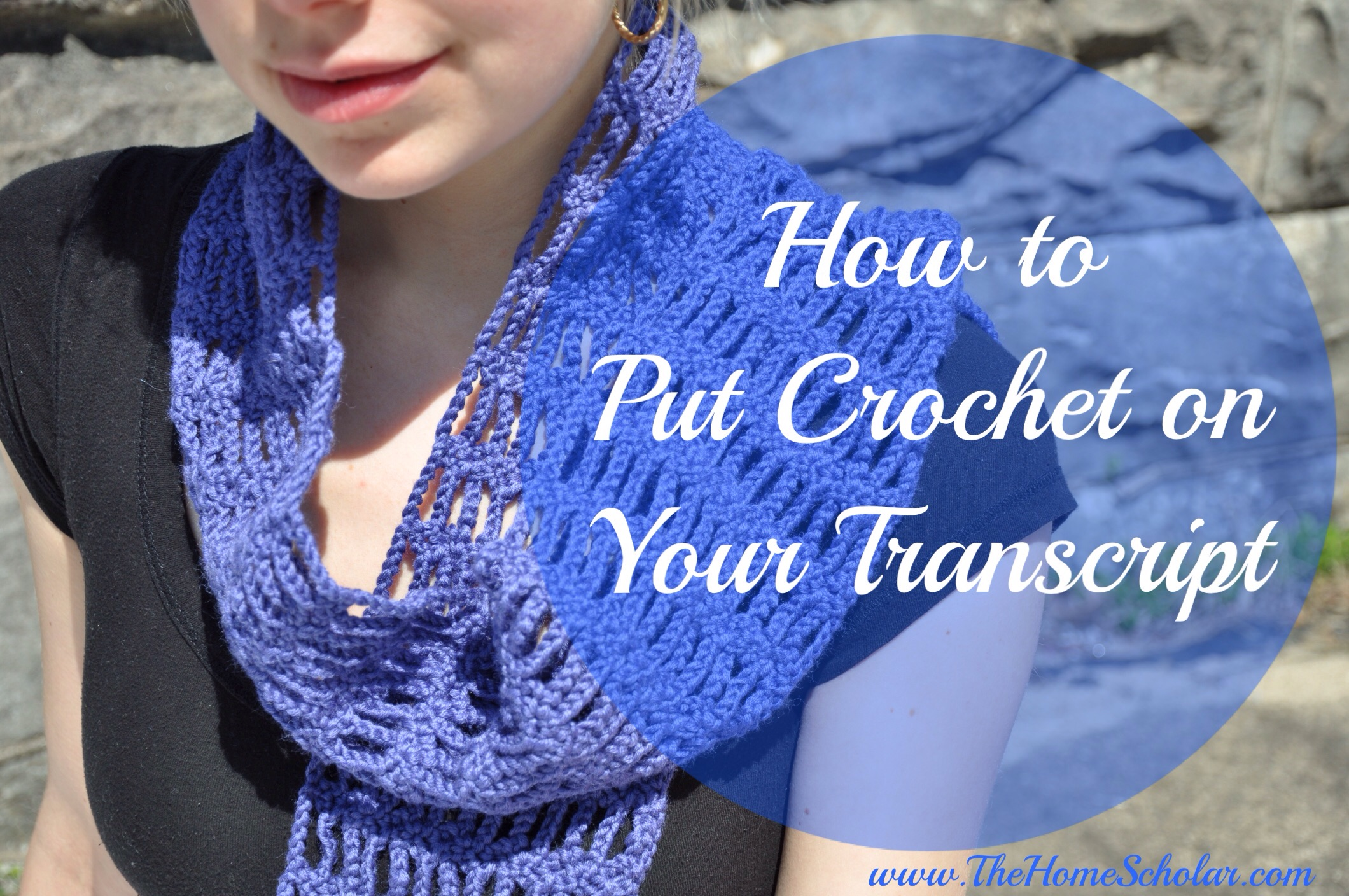 How to Put CROCHET on Your Transcript