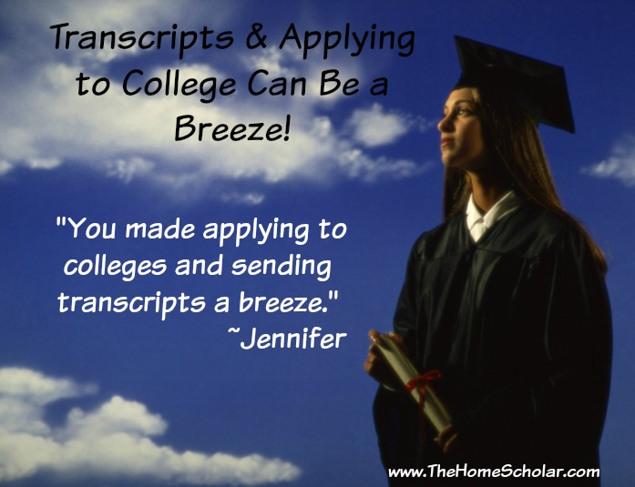 #Transcripts & Applying to College Can Be a Breeze @TheHomeScholar