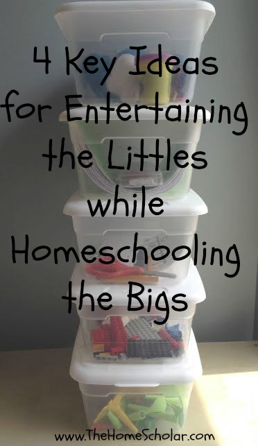4 Key Ideas for Entertaining the Littles While Homeschooling the Bigs