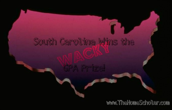 South Carolina Wins the Wacky GPA Prize!