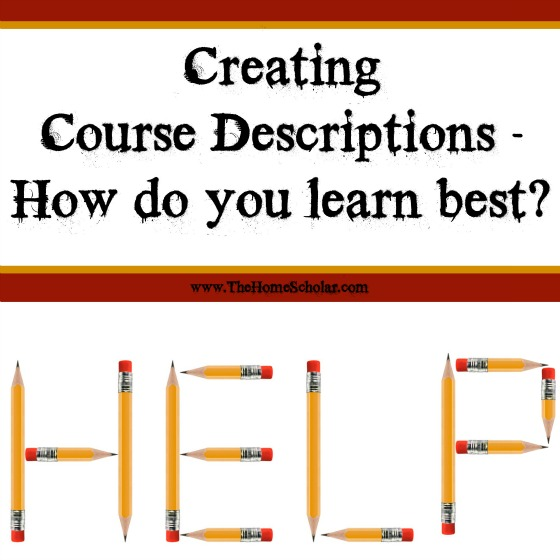 How to Write Course Descriptions - How do you learn best?