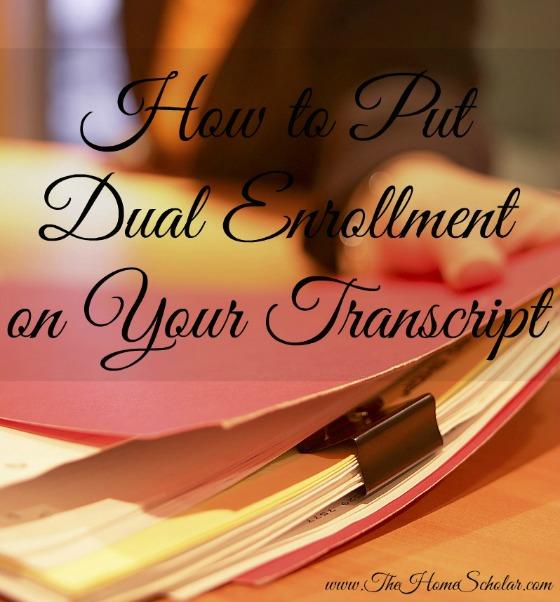 transcript dual enrollment @TheHomeScholar