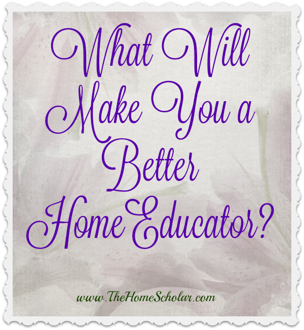What WILL Make You a Better Home Educator?