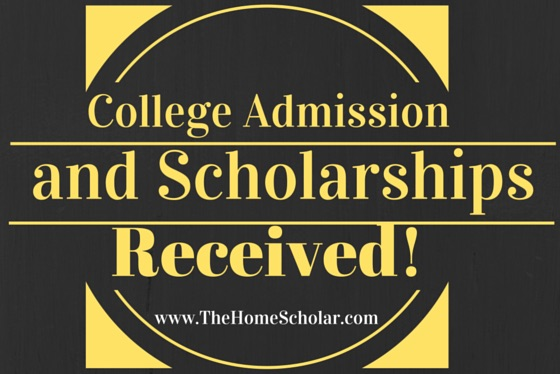 College Admission and Scholarships Received!