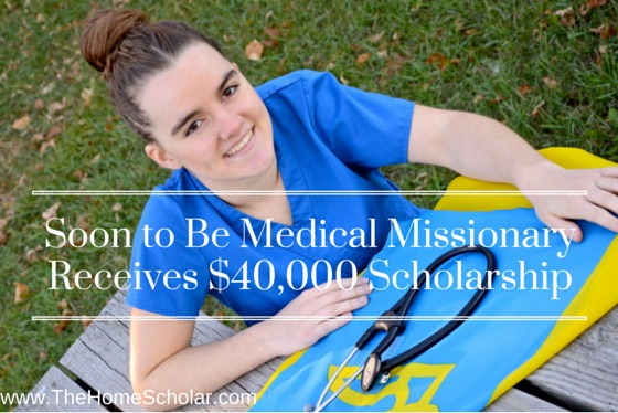 soon to be medical missionary receives $40,000 scholarship