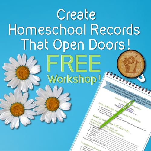 Free workshop on homeschool records