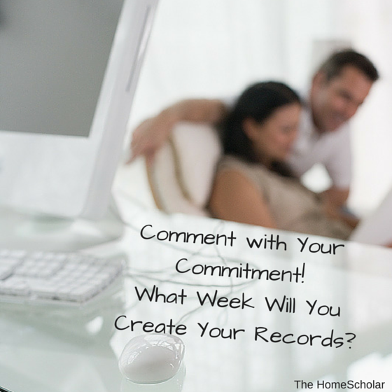 Comment with Your Commitment! What Week Will You Create Your Records?