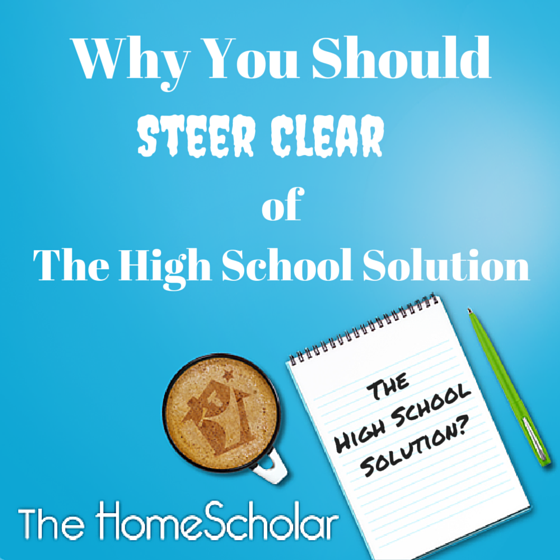 Why You Should Steer Clear of The High School Solution