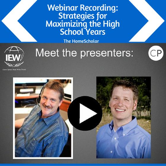 Webinar Recording: Strategies for Maximizing the High School Years
