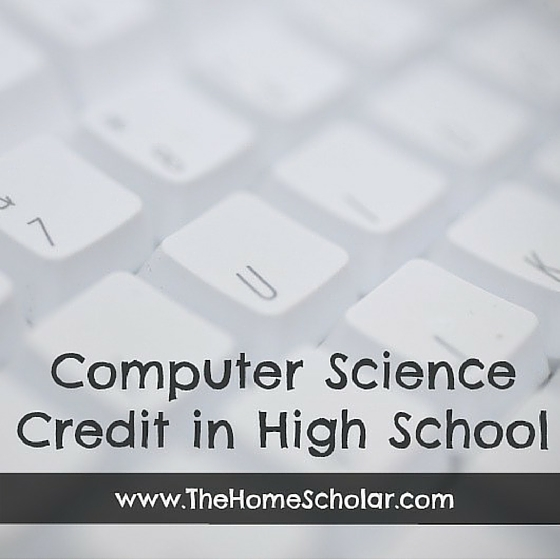 High School Computer Science Credit