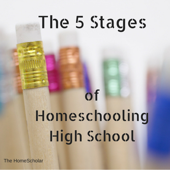 The 5 Stages of Homeschooling High School