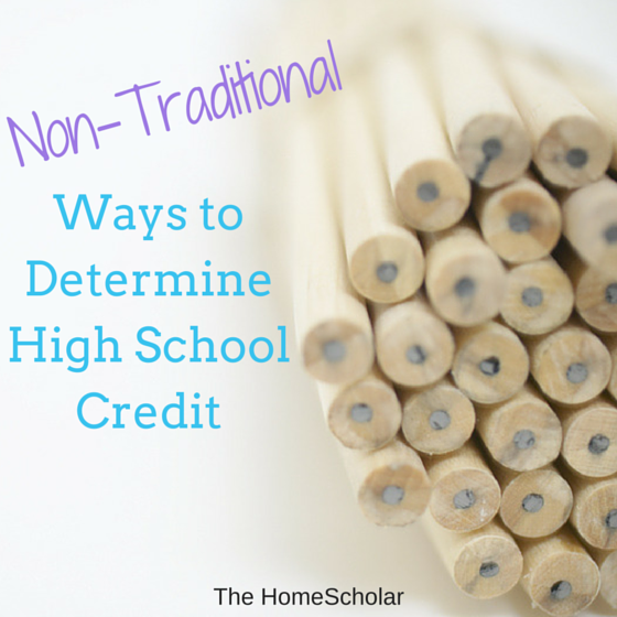 Non-Traditional Ways to Determine High School Credit