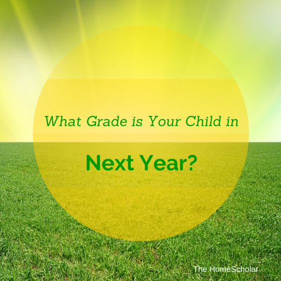 What Grade is Your Child in Next Year?
