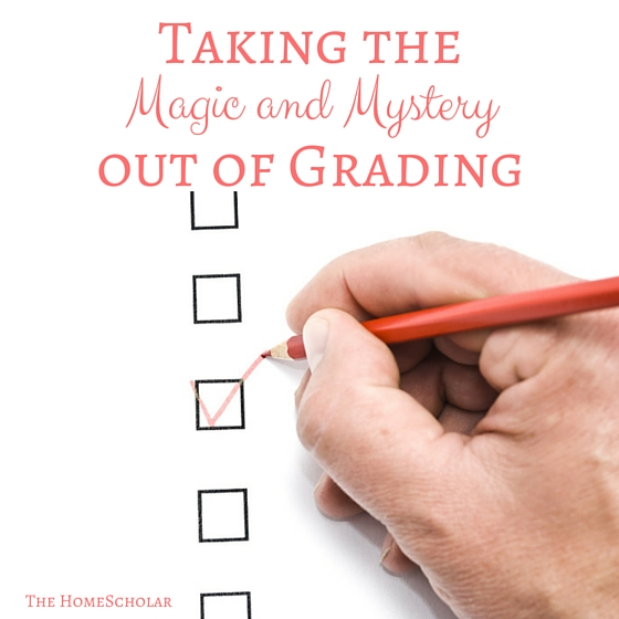 taking the magic and mystery out of grading