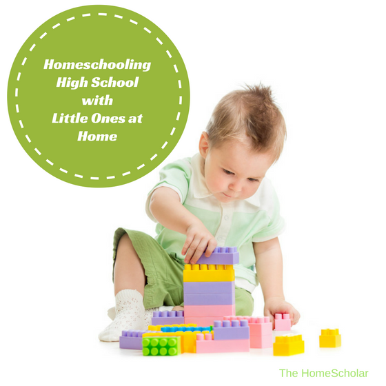 Homeschooling High School with Little Ones at Home