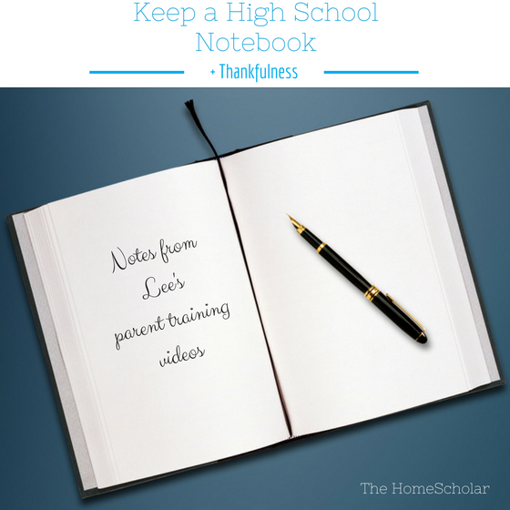 Keep a High School Notebook + Thankfulness