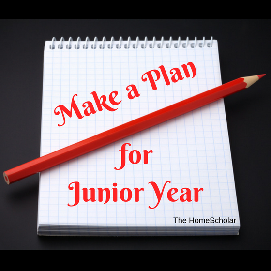 Make a Plan for Junior Year