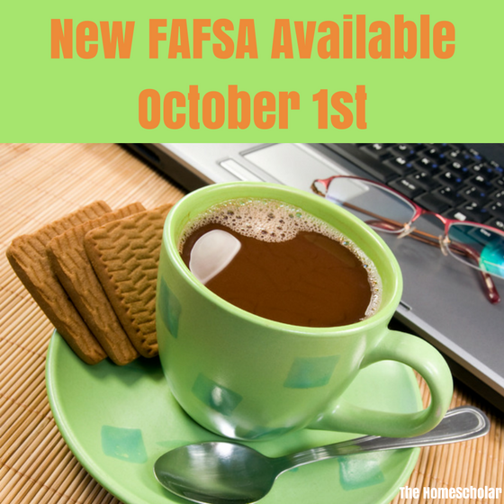 New FAFSA Available October 1st