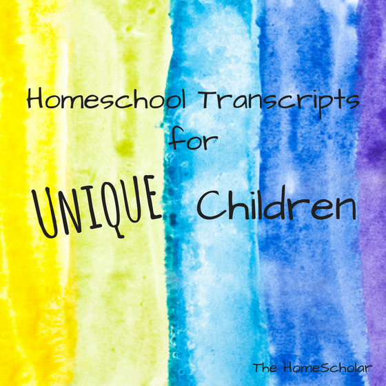 Homeschool Transcripts for Unique Children