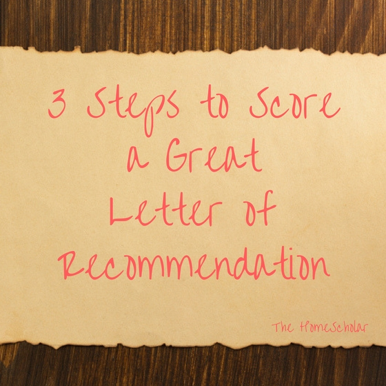 score a great letter of recommendation